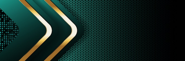 Gold banner golden luxury light color backdrop background Premium Vector