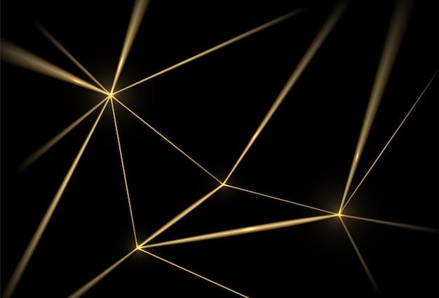 Sfondo nero e oro. linee geometriche di texture di lusso, griglia dorata. Vettore gratuito