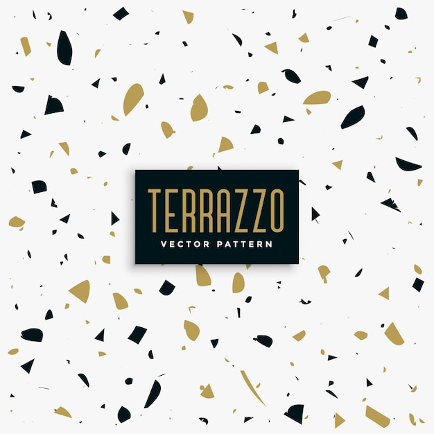 Gold and black terrazzo pattern background Free Vector