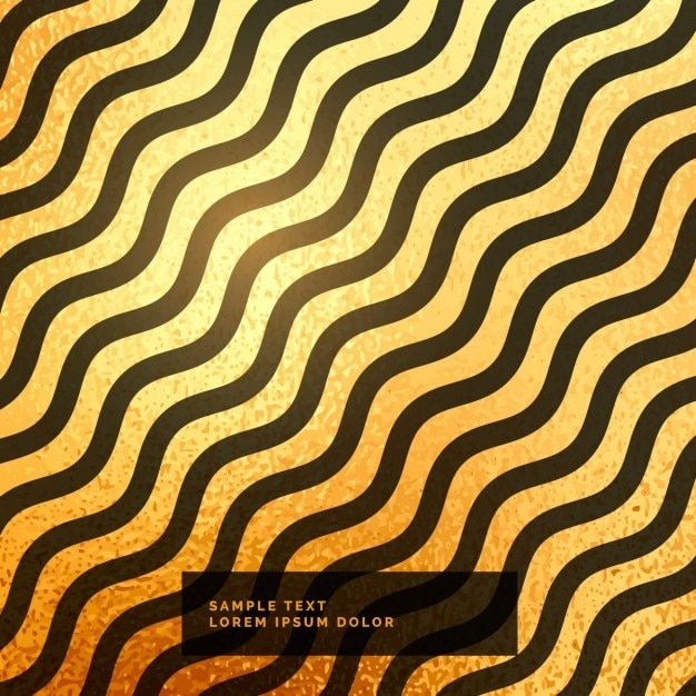 Gold and black wavy background Free Vector
