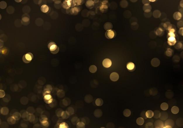 ゴールドボケぼやけた光。抽象的なキラキラは、点滅する星と火花の焦点をぼかしました。 Premiumベクター