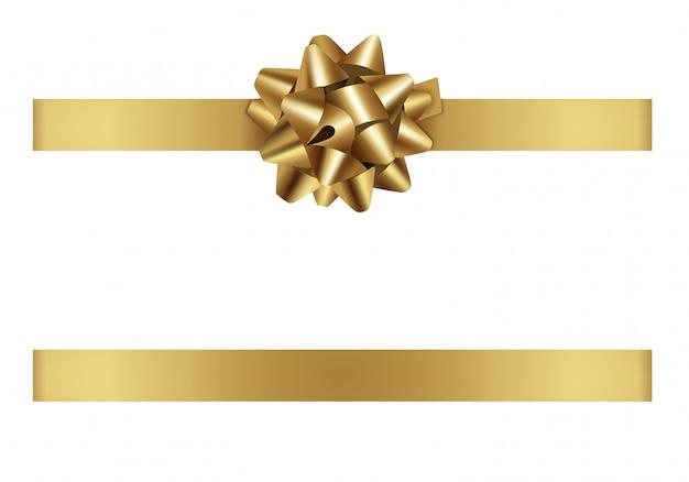 Золотой лук и лента Premium векторы