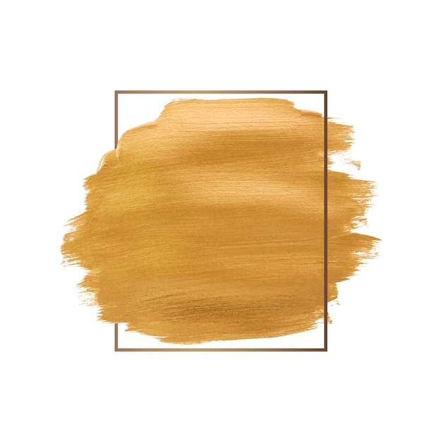 Gold brush stroke Free Vector