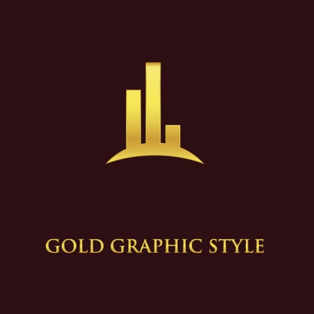 Gold business logo abstract vector