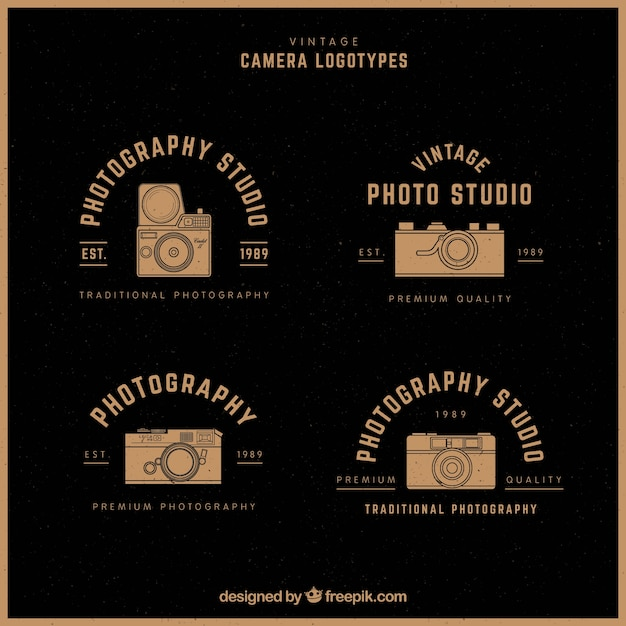 Gold camera logo collection
