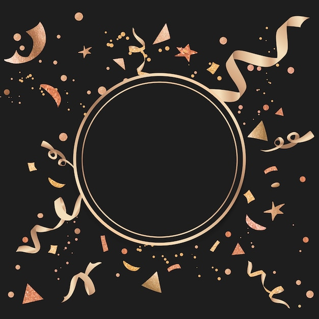 Gold confetti celebratory design Free Vector