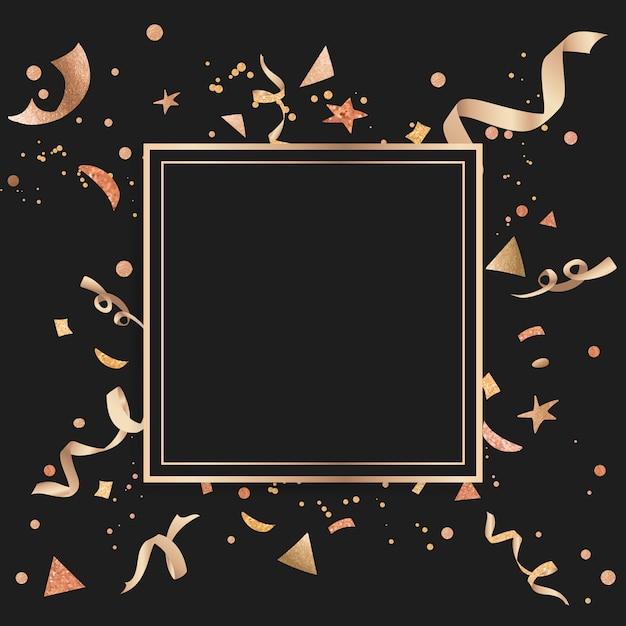 Gold confetti celebratory design Free Vector