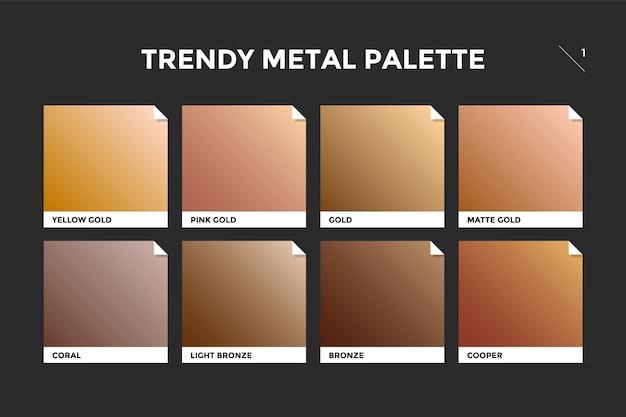 Gold, copper and bronze gradient template Premium Vector