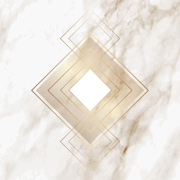 Gold diamond pattern on elegant marble texture vector for Elegant stone
