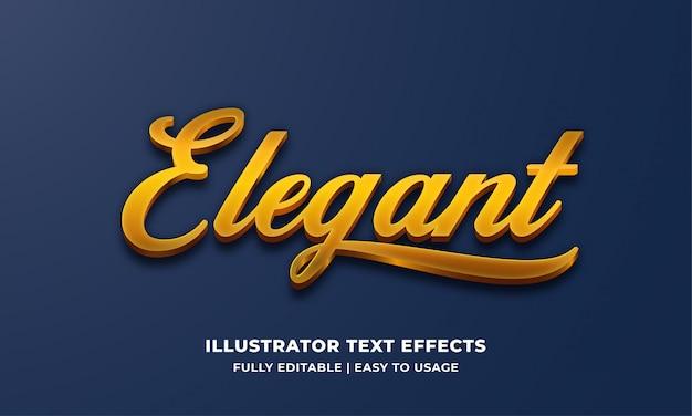 Gold elegant 3d text style effect Premium Vector