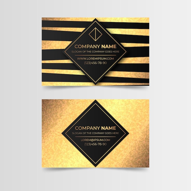 Gold foil business card template Premium Vector