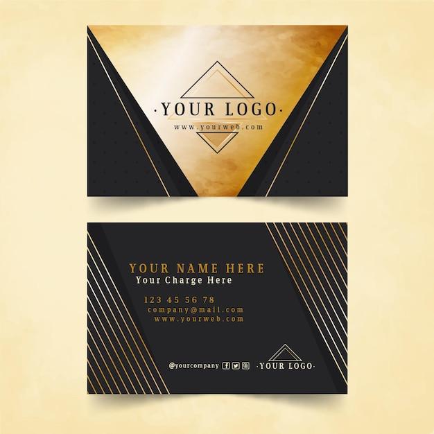 Gold foil business card template Premium Vector