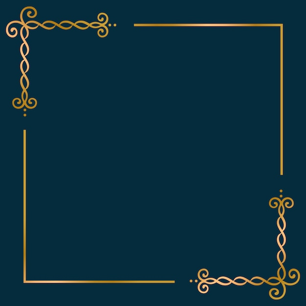 Gold frame background Free Vector