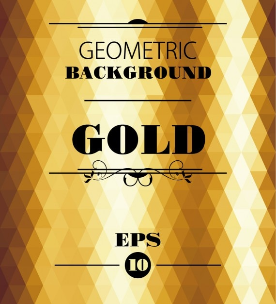 Gold geometric background Free Vector