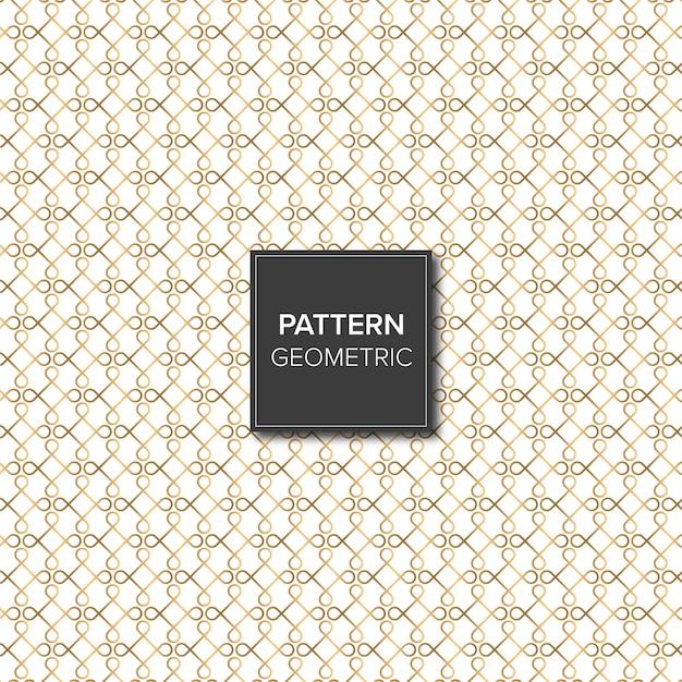 Gold geometric shapes pattern Premium Vector