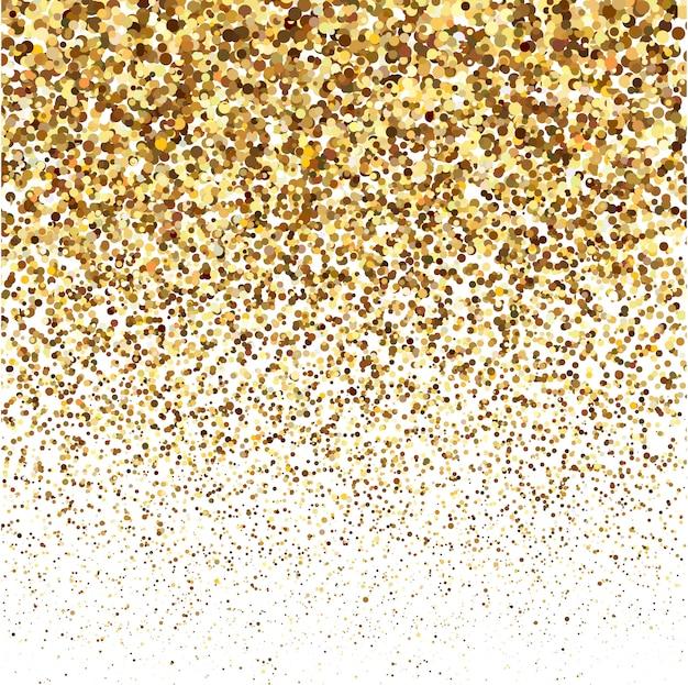 Gold glitter shine texture on a white background Premium Vector