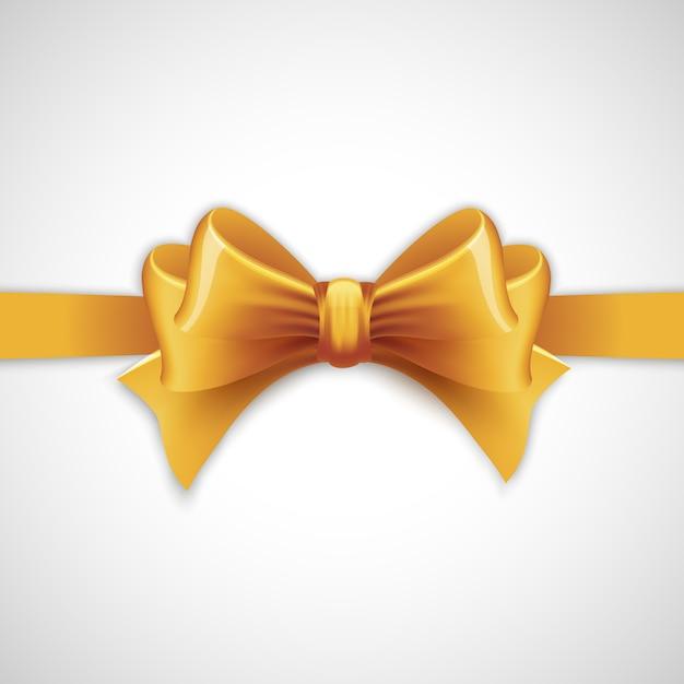Золотая праздничная лента с бантом Premium векторы