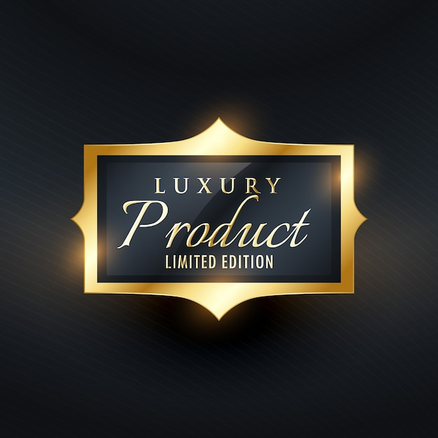 Gold label for luxury product Vector | Free Download