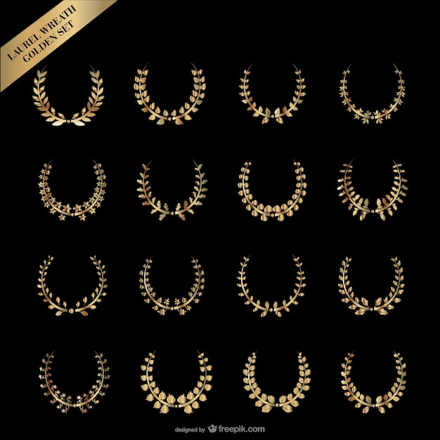 gold laurel wreath    vector Free Vector