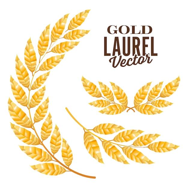 Gold laurel Premium Vector