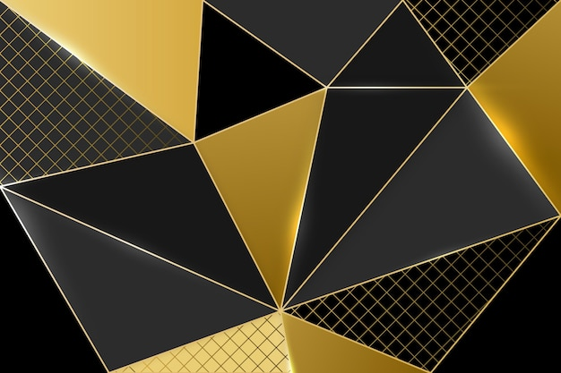 Gold luxury background concept Free Vector
