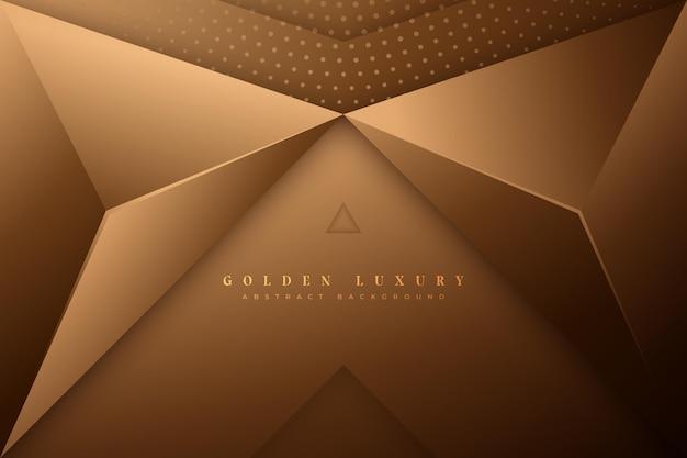 ゴールドの豪華な背景スタイル 無料ベクター