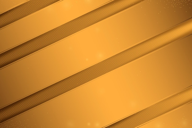 Gold luxury background with lines Free Vector