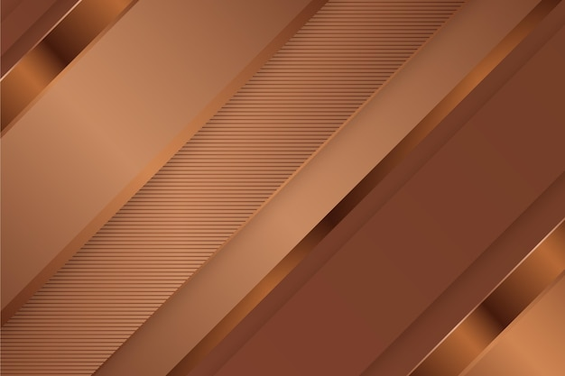 Gold luxury background with oblique lines Free Vector