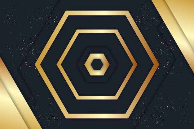 ゴールドの豪華な背景 Premiumベクター