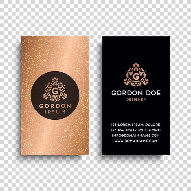 Gold luxury business card vector free download gold luxury business card free vector reheart Image collections