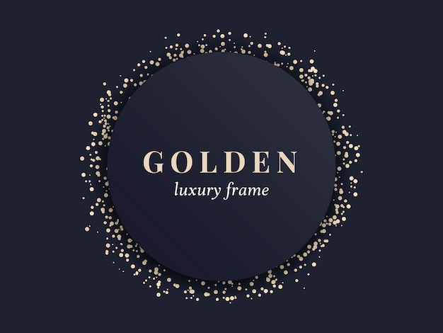 Gold luxury frame Free Vector