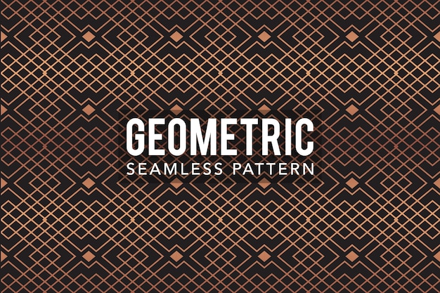 Gold luxury geometric seamless pattern  template Premium Vector