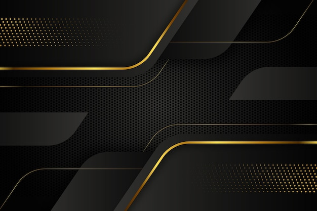 Gold luxury wallpaper Premium Vector