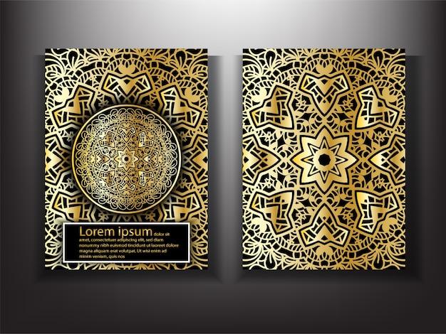 Шаблон дизайна роскошной обложки gold mandala | Премиум ...