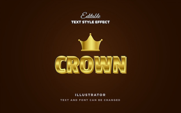 Gold metal text style effect Premium Vector