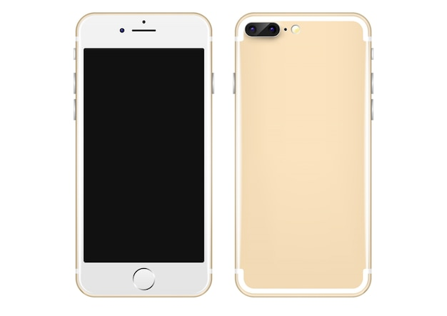 Gold Mobile phone vector template Vector | Free Download