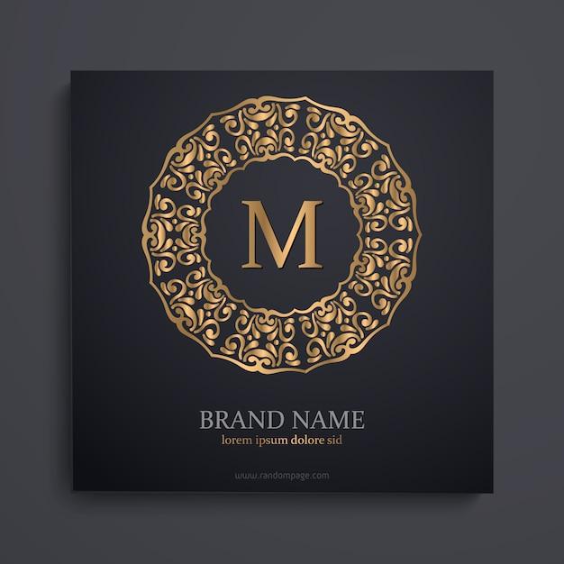 Gold monogram Free Vector