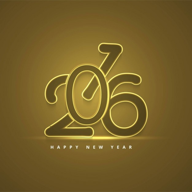 Gold new year 2016 background