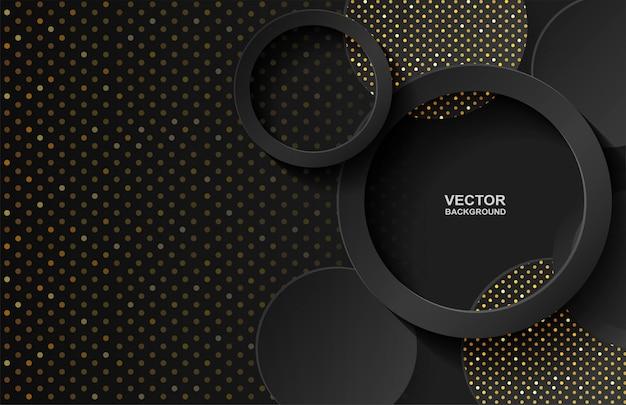 Gold overlap background Premium Vector