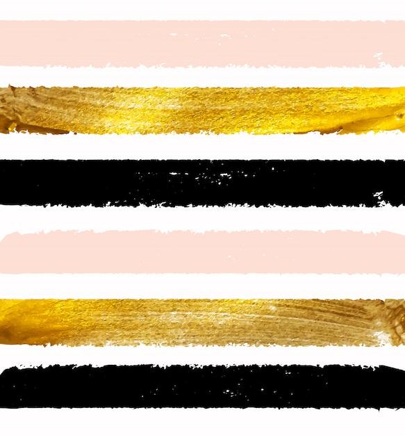 금 페인트 빛나는 그림. 프리미엄 벡터