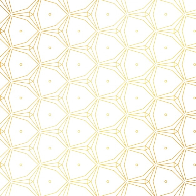 gold pattern on white background vector free download