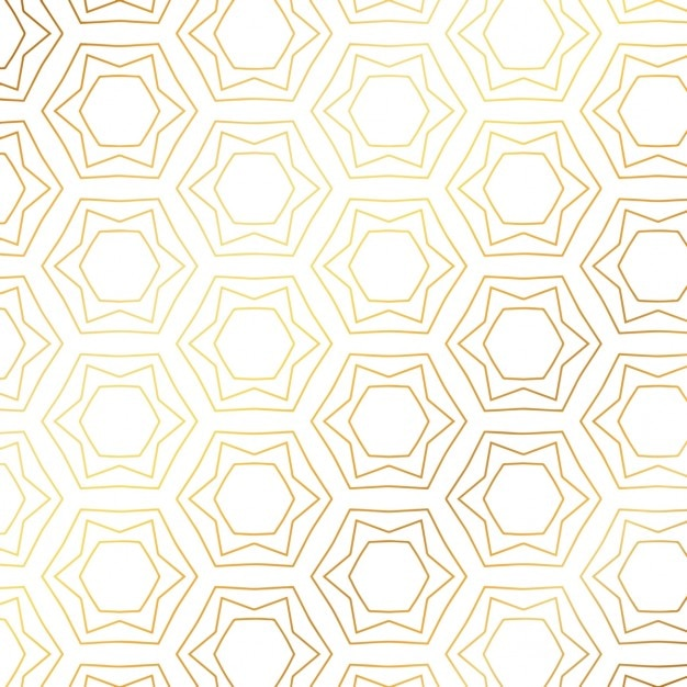 gold pattern with hexagons vector free download
