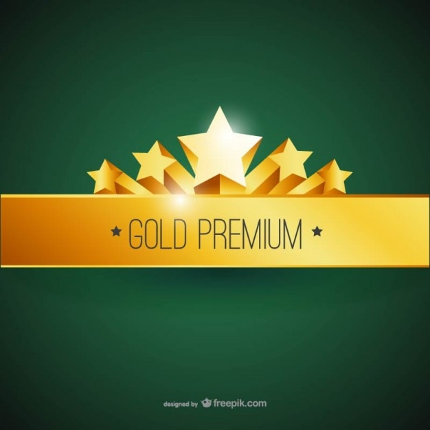 gold premium label vector free download