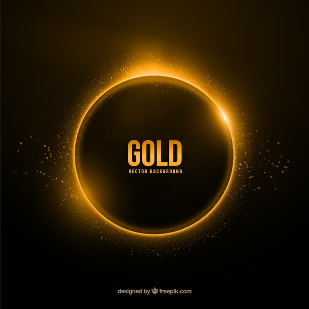Gold ring background Free Vector