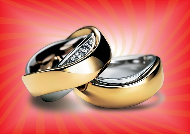 Gold Rings Free Vector