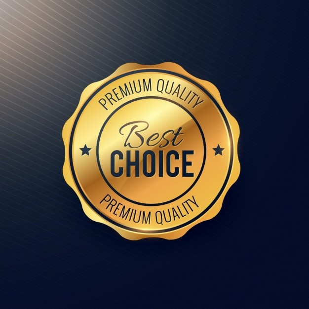 Gold seal, best choice Free Vector