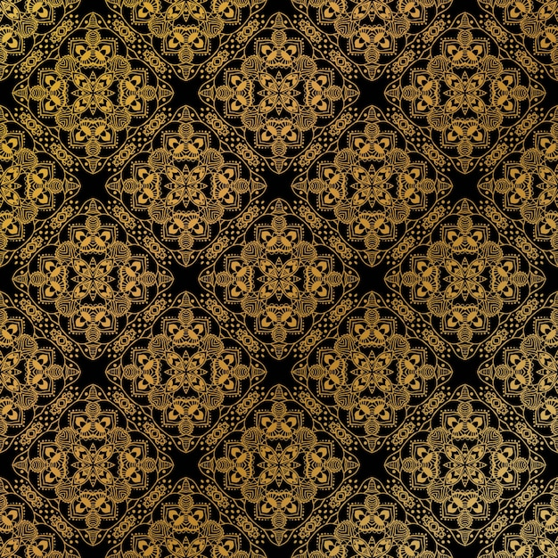 Gold seamless pattern Premium Vector