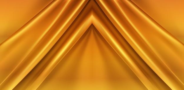 ゴールドの絹のような生地の抽象的な背景 無料ベクター
