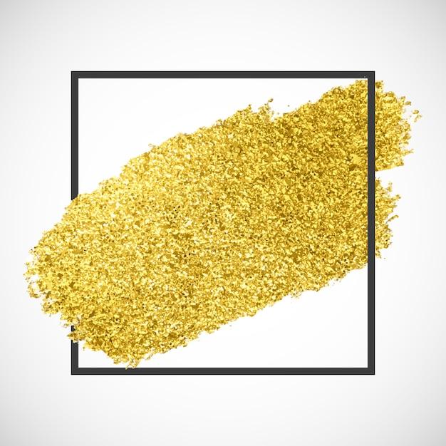 黒いフレームにゴールドの輝きストリーク 無料ベクター