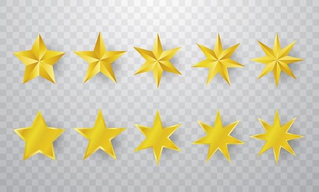 Фон с золотыми звездами Premium векторы